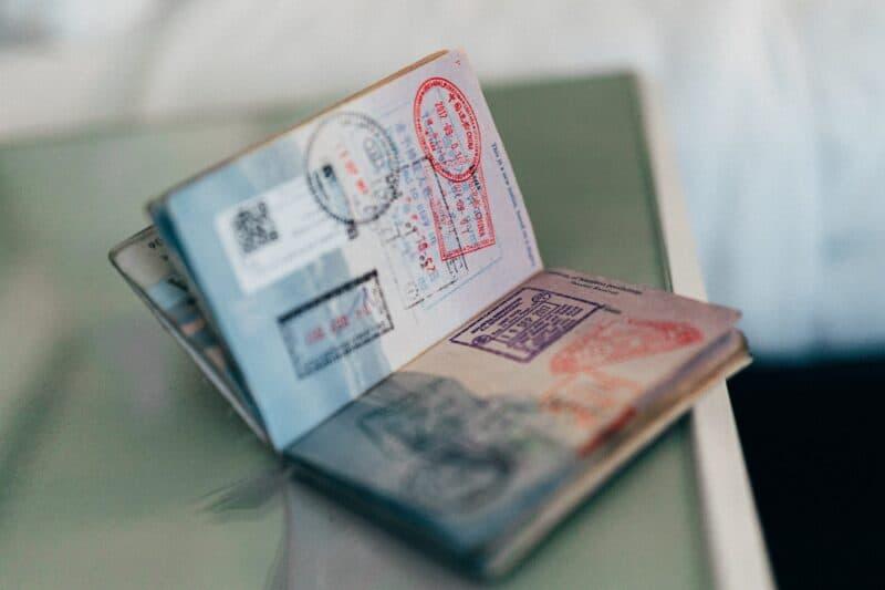Passport avec tampons